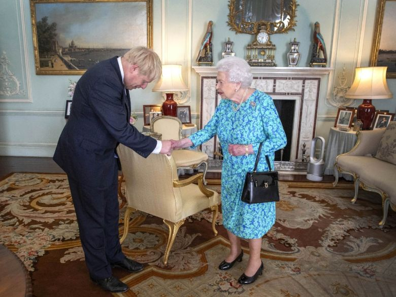 UK Prime Minister Boris Johnson recieves approval from the Queen for the prorogation of Parliament 2019