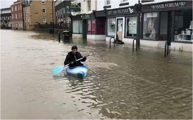 Flooding UK floodplains