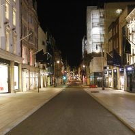 Empty streets in London, UK due to Coronavirus in April 2020. Image courtesy of The Sun.